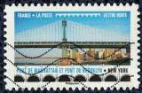 miniature France 2017 Oblitéré Used Ponts et Viaducs Pont de Mahattan et pont de Brooklyn New York