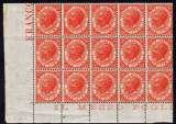 miniature 2 Lire orange, bloc de 15 timbre, neuf MNH, tirage de Londres L 22