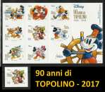 miniature ITALIA 2017 - 90 anni di Topolino W. Disney Italia - Grande foglietto + singolo