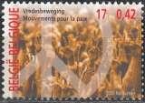 miniature Belgique 2000 COB 2951 Neuf ** Cote (2016) 1.00 Euro Mouvement pacifiste