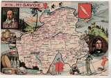 miniature cpsm 74 Haute-Savoie  Carte Géographique de Pinchon