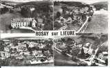 miniature CPSM - 27 - Rosay-sur-Lieure - Vues aériennes - Avion - 1963 - Y&T 1233 - Dos scanné