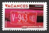 miniature France - Autoadhésif Y&T 323 (o)  Vacances - année 2009