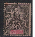 miniature MADAGASCAR         N°   35    ( 1 )         OBLITERE     (0 01/64  )