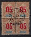 miniature MADAGASCAR        N°  113 x 4       ( 1 )      OBLITERE     ( o 02/04  )