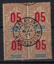 miniature MADAGASCAR        N°  113 x 4       ( 3 )      OBLITERE     ( o 02/04  )