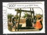 Sénégal 1980 Y&T 541 oblitéré - Promotion de la femme rurale - Femmes au puits