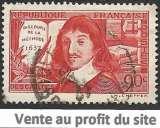 France 1937 Y&T 342 oblitéré - René Descartes