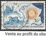 France 1955 Y&T 1009 oblitéré - Cinquantenaire du Rotary international