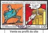 France 1988 Y&T 2509 et 2510 oblitérés - La communication