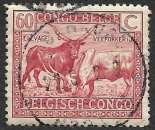 Congo Belge 1925-27 Y&T 124 oblitéré - Elevage