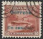 Costa Rica 1911 Y&T 82 oblitéré (trace de charnière)