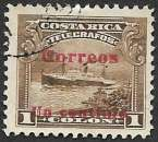 Costa Rica 1911 Y&T 83 oblitéré (trace de charnière)