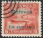 Costa Rica 1911 Y&T 84 oblitéré (trace de charnière)