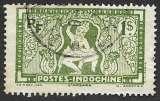 miniature Indochine 1931-39 Y&T 169 oblitéré - Apsara