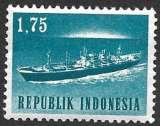miniature Indonésie 1964 Y&T 379 neuf sans charnière - Transports et communications - Bateau (scan dos)