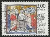 miniature France - 1996 - Y&T n° 3024 - Obl. - Le baptême de Clovis - De la Gaule à la France I (496-1996)