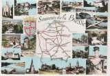 miniature cpsm 71 Carte géographique de la Saône-et-Loire
