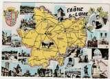 miniature cpsm  Carte géographique de la Bresse