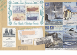 miniature TAAF TERRE ADELIE 2001LETTRE YT 302 303 304 305 298 299 300 301 BATEAUX MAMMIFERES MARINS ARCHE