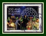 miniature France N° 5074 350 ans Académie des Sciences 2,50€ obl. 2016