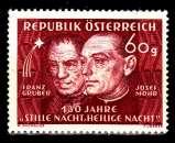 miniature Autriche 764 130e anniversaire du chant de Noël