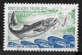 miniature France - Y&T 1693 (o) - Protection de la nature - le saumon - année 1971