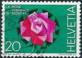 miniature Suisse 1971 - Rose ( Mi 942 - YT 874 )