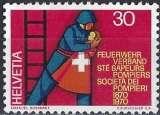 miniature Suisse 1970 - Les Sapeurs-pompiers ( Mi 919 - YT 852 )