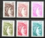 miniature France neuf Yvert N°2118 à 2123 Sabine 6 valeurs 1980