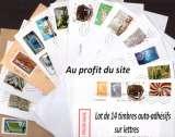 miniature Au profit du site   France 2010.... lot de 14 timbres auto-adhésifs sur lettres tous différents