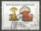 miniature Gabon - 1999 - Y&T n° 994 - Obli. - Bolet amer et bolet satan - Champignons - Flore