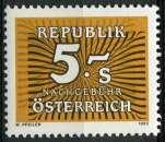 miniature AUTRICHE 1985 NEUF** MNH TAXE N° 254
