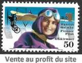 miniature Etats-Unis P.A. 1991 Y&T 121 oblitéré - Hommage Harriet Quimby