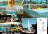 miniature Suisse Cpsm et Cpm lot de 16 cartes postales toutes différentes