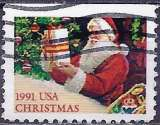 miniature Etats-Unis 1991 - Père Noël ( Mi 2197 Do - YT 1997 )