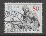 TIMBRE OBLITERE DE BERLIN - 150E ANNIV. DE LA MORT DE WILHELM VON HUMBOLDT N° Y&T 694