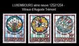 miniature Luxembourg - Y&T 1252 à 1254 ** neuf - Vitraux d'Auguste Trémont - année 1992