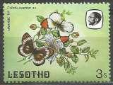 miniature Lesotho - 1984 - Y&T n° 563 - Neuf ** - Colotis evenina, mâle et femelle - Papillons - Faune