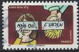miniature France 2014 Oblitéré rond Used Meilleurs voeux Mais qui m'écrit ? Y&T 1049 SU