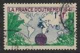 miniature FRANCE 1941  YT 503 Oblitéré - La France d'Outre-Mer 1941