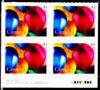 miniature Canada 2006 Timbre de voeux / Ballons ( Bloc de 4 )