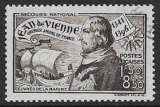 miniature FRANCE 1942 YT 544 oblitéré -  Jean de Vienne , oeuvres de la marine