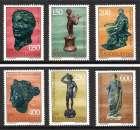 miniature YOUGOSLAVIE 1971 Statues de bronze. N° 1318 à 1323 * * Neufs. Réf. 11581