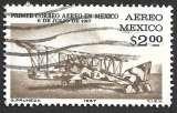 miniature Mexique P.A. 1967 Y&T 278 oblitéré - Avion postal