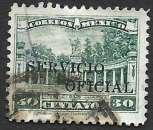 miniature Mexique Service 1933 Y&T 137 oblitéré (trace de charnière)