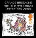 miniature Grande Bretagne 1993 - Y&T 1705 obl - Noel - M. et Mme Fezziwig