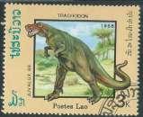 miniature Laos - République Socialiste - Y&T 0844 (o) - Animaux préhistoriques -