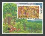 miniature Moldavie 1999 BL 20 ** Europa Parcs naturels Codru Renards Arbres