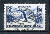 miniature 1937 FRANCE CHAMPIONNAT DU MONDE DE SKI A CHAMONIX OBLITERE